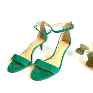 NINE WEST   leather kitten heel strappy sandal 8.5